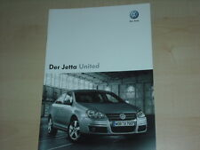 51227) VW Jetta United Prospekt 11/2007