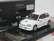 Toyota Starlet Glanza V Turbo EP91 1998 white 1/43 WITs Resin