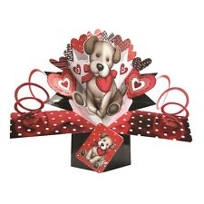 Puppy Love Pop-Up Greeting Card Valentine's Day or Any Occasion 3D Pop Up Cards