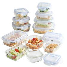 Vonshef 12 pièces récipient en verre de stockage de denrées alimentaires set avec couvercles gratuit garantie 2 an
