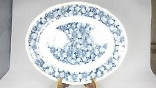 LARGE VINTAGE SHARON BLUE WHITE & GILT PLATTER ASHET SERVING PLATE DISH TURKEY