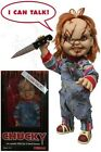 "CHILD'S PLAY 15"" INCH MEGA SCALE TALKING SCARED CHUCKY DOLL FIGURE MEZCO TOYZ"