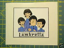Lambretta (Vespa) Scooter Retro Beatles Cartoon pegatina Gp, Tv, Li, Sx, Gt.200 Ts1