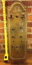 ~ Antique Large Industrial Bronze Otis Elevator Switch Panel Cover Plate Up Down