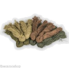 Ghillie Suit Fiber Yarns DIY Woodland Burlap polyester 4 colors