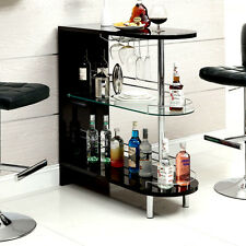Bar Wine Cabinet Home Pub Storage Rack Furniture Expandable Liquor Counter NEW!