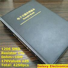 1206 1% SMD SMT Chip Resistors Assortment Kit 170Values x25 Assorted Sample Book
