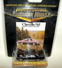 ertl 1/64 1965 CHEVROLET CHEVELLE SS 396 HT SEDAN-black