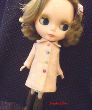 Blythe Doll Outfit Orange Flannelet Coat