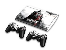 Skin Sticker Case Decal for PS3 Super Slim 4000+2 Controllers Batman Arkham City