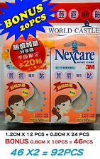 2X 3M Nexcare Blemish Acne Clear CARE DRESSING PIMPLE STICKERS PATCH TOTAL 92PCS