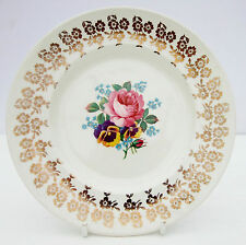 Vintage 1950s Empire Porcelain Golden Bouquet Tea Plate Floral