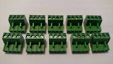 (10)     4 pin - 5.00mm / Quick Speaker Connector Terminal Block - Phoenix Plug