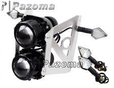 Motorcycle Streetfighter Headlight + LED BLINKER Turn Signal light Front Lamp