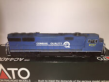 Custom HO Conrail SD60M CSX Patch - Rail Power Shell w/Weathering, Lights
