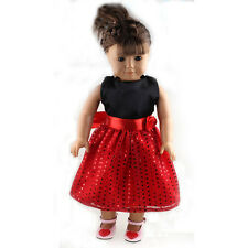 2016 fashion dress clothes for 18inch American girl doll party new b672
