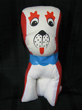 VINTAGE CARNIVAL STATE COUNTY FAIR GAME CLAW VENDING MACHINE PRIZE RED DOG PLUSH