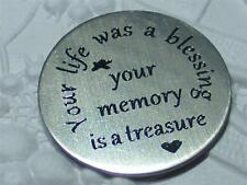 Your Life was A Blessing .. ROUND Floating Charm Locket Plate*FREE Origami Stone