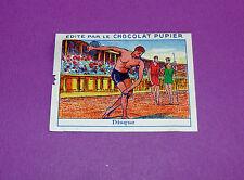 LES SPORTS D'AUTREFOIS DISQUE  CHROMO CHOCOLAT PUPIER JOLIES IMAGES 1930