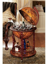 Vintage Home Mini Bar Pub Storage Rack Cabinet Globe Table Liquor Whiskey Wine