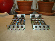 JBL Urei 7510-03, Pair, 4 Channel Preamp Modules, Vintage Units, As Is