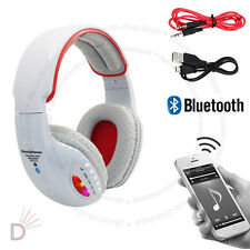 LED Wireless Bluetooth 4.2 Stereo Headset Super Bass Music Grey Headphone UKDC