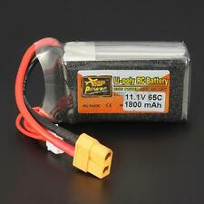 Zop Power 11.1V 1800mah 3S 65C Lipo Battery T Plug For RC Helicopter Car Truck