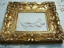 """Framed Stone Wall Plaque in stone compound, """"Nude"""", gorgeous frame"""