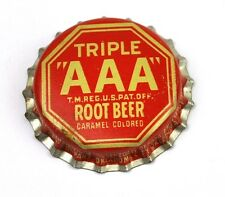 Vintage Triple AAA Root Beer Kronkorken USA 1950er Bottle caps