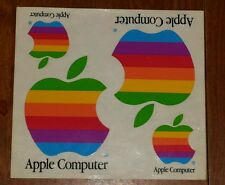 Vintage Apple Computer Macintosh Rainbow Logo Decal Stickers -- NEW OLD STOCK!
