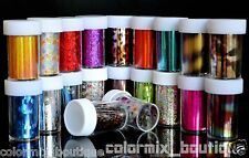 20 Rolls Mix Colors Fashion Design Nail Transfer Foil Nail Tips Decoration Set 2