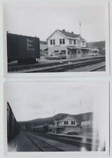 2 1966 Pacific Great Eastern Railroad Station Williams Lake BC Vintage Photos
