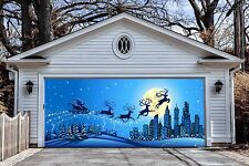 Christmas Garage Door Covers Banners Outside House Decorations Billboard GD24