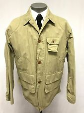 vintage mens khaki POLO RALPH LAUREN COUNTRY field hunting sportsman jacket M