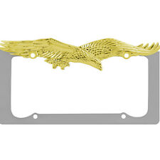 Pilot WL108-CG Univesal Gold Eagle Triple Chrome Plated Zinc License Plate Frame