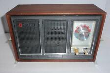 Vintage JULIETTE RT-290 AM/FM AFC Radio - Twin Speakers, Wood Cabinet - Works LN