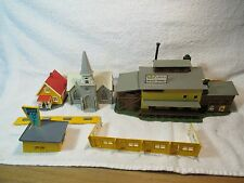 Lot of  HO Scale Buildings AS IS good for parts  or restoration & extra parts