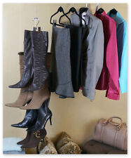 Boottique Boot Stax Hanging Organizer-Vertical Storage with 6 Silver Hangers
