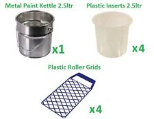 Work Pot, 2.5L, Plastic Inserts, Roller Grids, Painting and Decorating, Tools