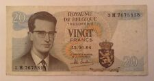 Belgium Banknote. 20 Francs. Dated 1964