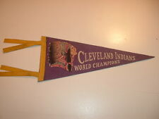 1948 Cleveland Indians World Champions Mini Pennant / Purple with Tassels #2
