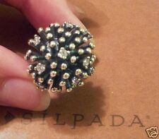 SILPADA STERLING SILVER & CUBIC ZIRCONIA STARBURST RING R2762 SZ 6