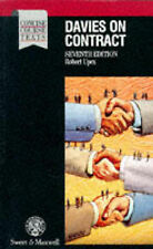 Davies, F.R. Davies on Contract (Concise Course Texts) Very Good Book