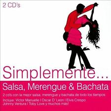 Simplemente: Salsa, Merengue & Bachata by Various Artists (CD, 2013, 2 Discs,...