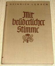 Heinrich Lersch-avec une atmosph voix 1937-poèmes HC
