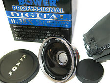 FISHEYE Fish Eye WIDE ANGLE 0.38X LENS FOR 30.5MM JVC GZ-M365 GZ-MG335 M330
