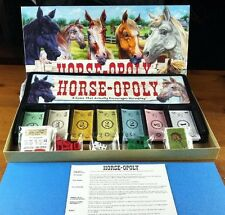 Horseopoly Horse-opoly Board Game Late For The Sky Girl Slumber Party Novelty