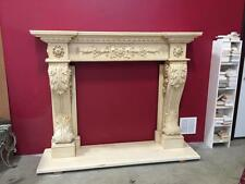 BEAUTIFUL HAND CARVED MARBLE ESTATE FIREPLACE MANTEL  - JD15