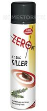ZERO IN BED BUG KILLER SPRAY KILLS & STOPS INSECTS AEROSOL FLORAL FRAGRANCE 968