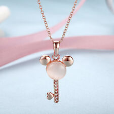18k rose gold plated necklace Mickey Key design pendant women's fashion jewelry
